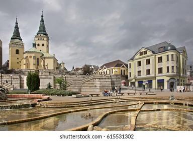 ZILINA. SLOVAKIA. 21 MAY 2008 : Andrej Hlinka square in Zilina. Slovakia