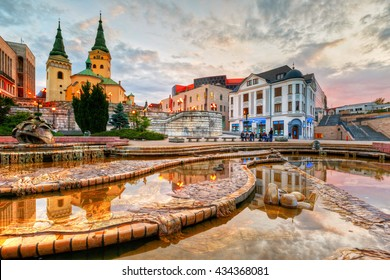 Zilina, Slovakia - June 03, 2016: Main square in the city of Zilina in central Slovakia. HDR image.