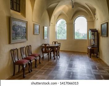 ZiliNA, SLOVAKIA - MAY 25: Interior of Budatin castle on May 25, 2019 in Zilina