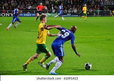 ZILINA, SLOVAKIA - SEPTEMBER 15: MSK Zilina vs Chelsea FC player of Chelsea Nicolas Anelka in action at the match of European Champions League on September 15, 2010 in Zilina, Slovakia.