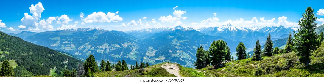 zillertal mountains in austria - panorama