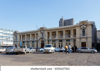 ZIMBABWE, BULAWAYO, OCTOBER 27: Colonial building on the street in the second largest city in african country Zimbabwe, October 27, 2014, Zimbabwe