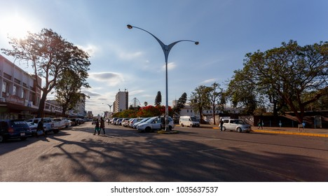 ZIMBABWE, BULAWAYO, OCTOBER 27: Peoples on street in the second largest city in african country Zimbabwe, October 27, 2014, Zimbabwe