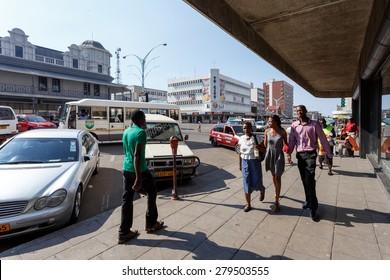 ZIMBABWE, BULAWAYO, OCTOBER 27: Peoples on street in the second largest city in Zimbabwe, October 27, 2014, Zimbabwe