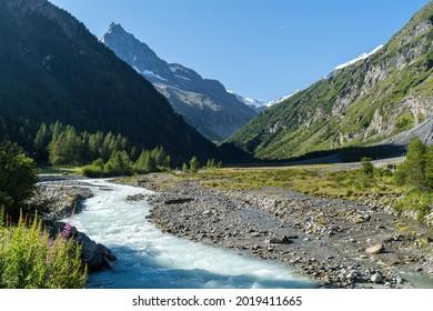 Zinal, Valais, View towards Besso
