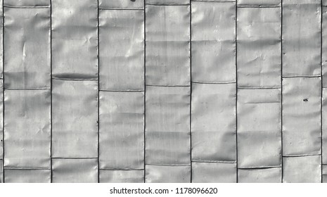 the zinc coating; closeup