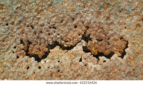 Zinc decay and corrosion.rust,brown,background, texture