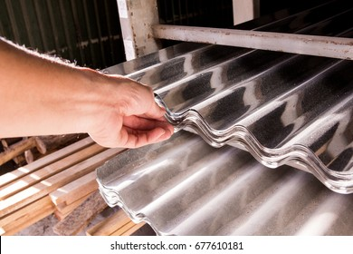 Zinc roof in the material store