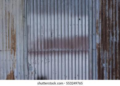 Zinc wall texture background