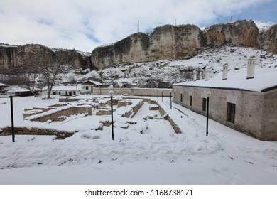 'Zincirli' Madrasah.(Zincirli medrese) is a madrasa, built of stone by Meñli I Giray in 1500 near Bakhchisarai, Crimea. 05.03.2012