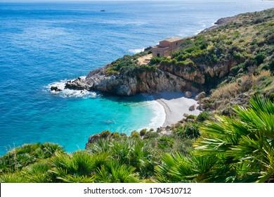 Zingaro Nature Reserve (The Nature Reserve of the Zingaro, Riserva naturale dello zingaro) sea summer best view, San Vito Lo Capo, Gulf of Castellammare, Province of Trapani, Sicily, Italy