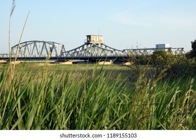 Zingst, Mecklenburg-Vorpommern/Germany - May 26, 2018: historic Meiningen swivel bridge
