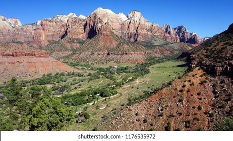 Zion Canyon near the Entrance, Zion National Park