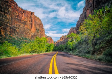 The Zion Canyon Scenic Drive.