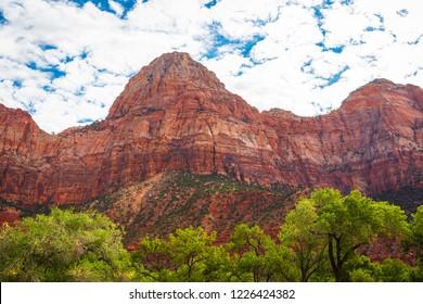 Zion Canyon Scenic Drive Near Zion National Park, Utah, USA