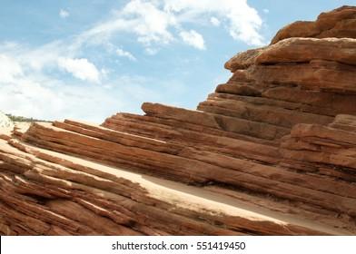 Zion National Park Rock Erosion layers