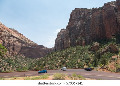 Zion National Park in the summer, Utah, USA
