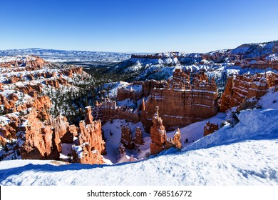 Zion National Park in winter, Utah, USA