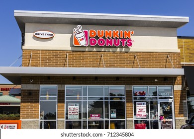 Zionsville - Circa September 2017: Dunkin' Donuts Retail Location. Dunkin' is America's favorite every day, all-day stop for coffee and baked goods XI