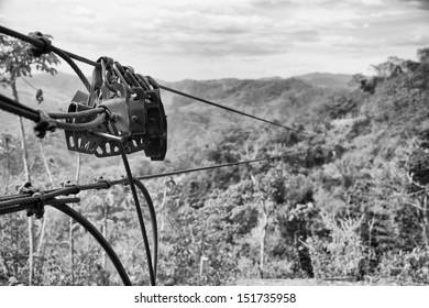 Zipline above the jungle canopy in Costa Rica