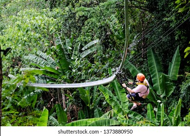 zipline adventure in the jungle in Hanuman, 16/03/2019 Phuket, Thailand