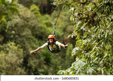 zipline exploration in ecuadorian rain forest banos de agua santa sport zipline canopi tree vacation hazard vegetation scenery dynamic outside expedition rain forest star ecuador soaring exterior fore