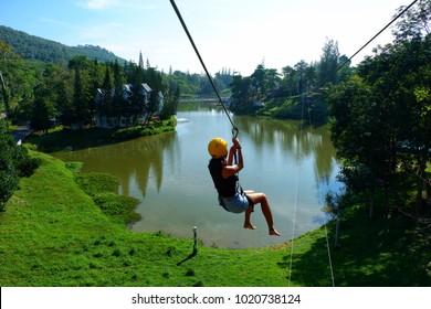 Zipline over the lake