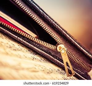 Zipped writing case