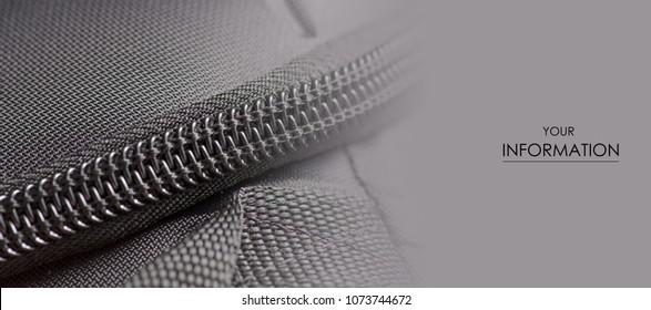 Zipper black bag backpack textile accessories macro pattern background
