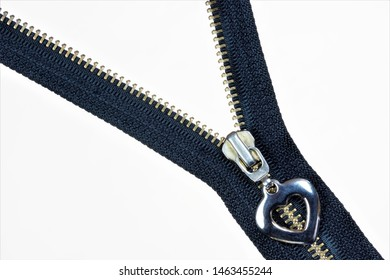 Zipper closure-background for creative sewing design and tailor needlework. Zipper, type of fastening, in sewing men's and women's clothing, designed for quick connection of clothing items.