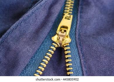 zipper clothing blue jacket macro pattern background