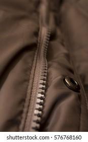 zipper clothing brown jacket macro pattern background