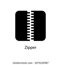 zipper icon. Element of minimalistic icon for mobile concept and web apps. Signs and symbols collection icon for websites, web design, mobile app on white background