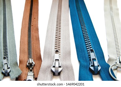 zipper isolated on a white background