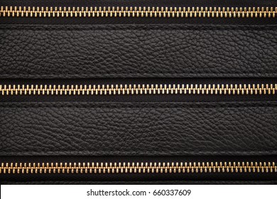 Zipper leather background, horizontal lines