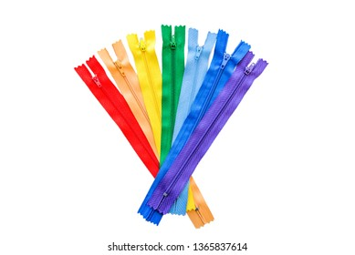 zipper locks for sewing set color isolated white background