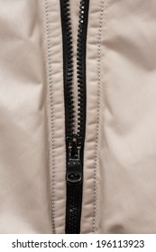 zipper vest in synthetic cloth