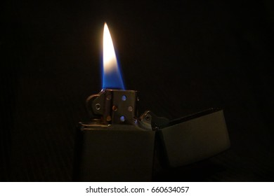 Zippo Lighter With Black Background