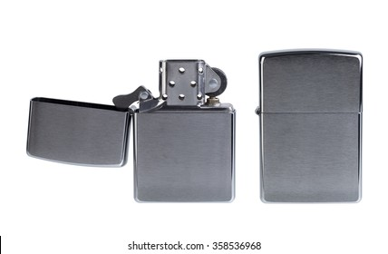 zippo lighter isolated on a white background.