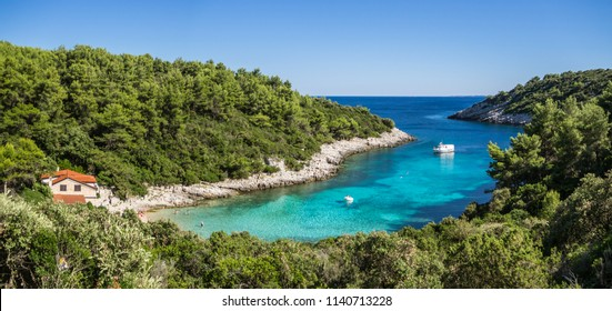 Zitna bay beach on Korcula island, Croatia