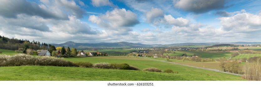 Zittau mountains in the Upper Lusatia