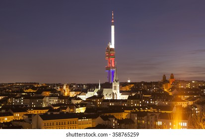 Zizkov Television Tower. Prague. Czech Republic.