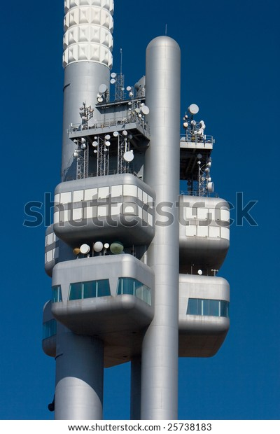 Zizkov television tower in Prague, Czech Republic