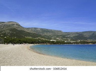 Zlatni Rat (Golden Cape) is a popular beach in the Town Bol which is on the south of the island of Brac in the Split-Dalmatia County of Croatia