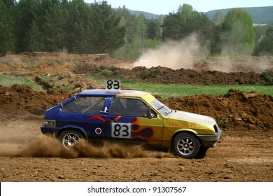 ZLATOUST, RUSSIA - MAY 15: Buggy (No. 83) competes at the annual auto cross racing Championship of Chelyabinsk region on May 15, 2010 in Zlatoust, Chelyabinsk region, Russia.