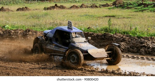 ZLATOUST, RUSSIA - SEPTEMBER 26: Buggy (No. 69) during annual auto cross racing Championship of Chelyabinsk region on September 26, 2009 in Zlatoust, Chelyabinsk region, Russia.