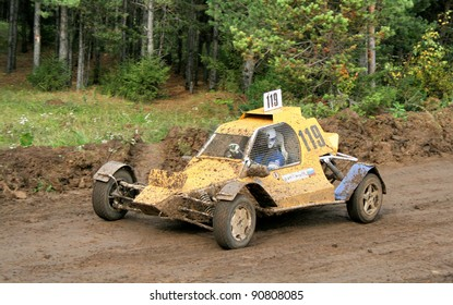 ZLATOUST, RUSSIA - SEPTEMBER 26: Buggy (No. 119) competes during annual auto cross racing Championship of Chelyabinsk region on September 26, 2009 in Zlatoust, Chelyabinsk region, Russia.