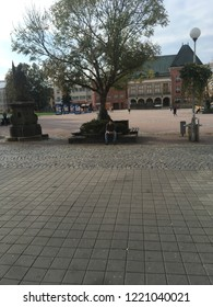 Zlin, Czech Republic. September, 15 2018. Main square of the city.
