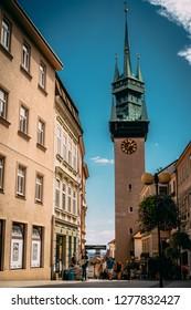 ZNOJMO, Czech Republic - 25.9.2017: Photo of the historic center of Znojmo.