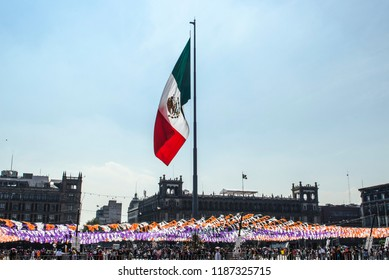 Zocalo de la Cuidad de México/Bandera de México/ Zocalo of the City of Mexico / Flag of Mexico